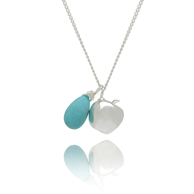 Sophie Lutz Jewellery Health Apple silver necklace