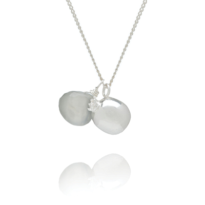 Sophie Lutz Jewellery Fertility Pomegranate silver necklace