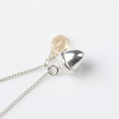 Sophie Lutz Jewellery Money Acorn silver necklace