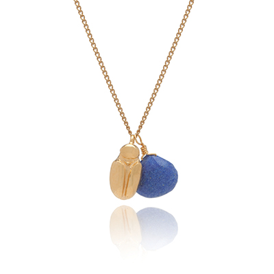 Sophie Lutz Jewellery Transformation Scarab beetle gold necklace