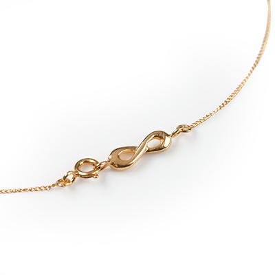 Sophie Lutz Jewellery Infinity Clasp Link Gold
