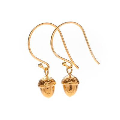 abundance acorn sophie lutz jewellery gold earrings