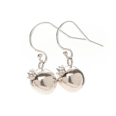 creativity pomegranate sophie lutz jewellery silver earrings