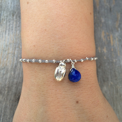 transformation scarab sophie lutz jewellery silver braclet